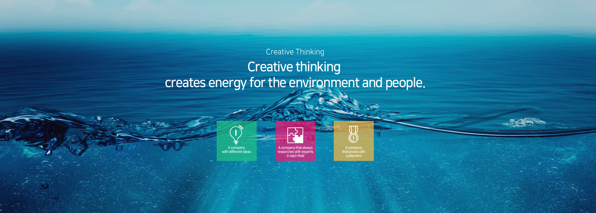 Creative Thinking - creates energy for the environment and people.